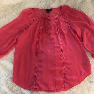 Pink blouse